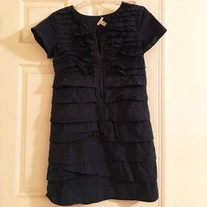 J.Crew Navy Carly Ruffled Dress